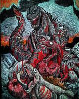 SHIN-GOJIRA/GODZILLA RESURGENCE - Colored version  by Erickzilla