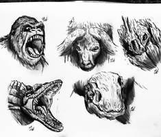 Kong : Skull Island sketches by Erickzilla