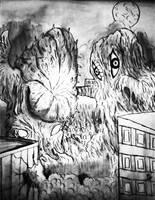KAIJU BATTLES : Hedorah vs. Greenmons by Erickzilla