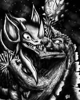 KAIJU BATTLES : Godzilla 75' Vs. Tyrant by Erickzilla