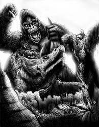 KING KONG VS. TRICLONIUS by Erickzilla