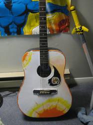 painting-guitar orange dye by not-fun