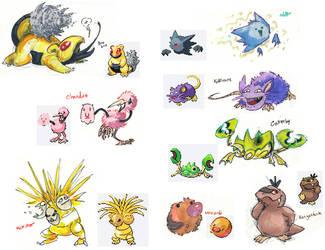 Pokemon fusions by not-fun