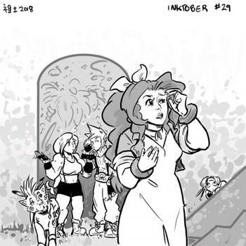 Inktober 29 - Should She Be Leading Us by not-fun
