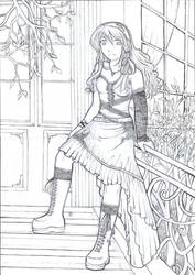 Commision for Anika-Lineart by Shinigami-chan02