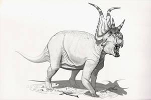 Draw Dinovember Day 9 Diabloceratops by daitengu
