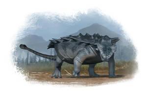 Draw Dinovember 2016 Day 20 Pinacosaurus by daitengu