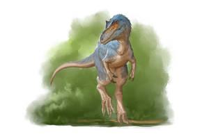 Draw Dinovember 2016 Day 28 Qianzhousaurus by daitengu