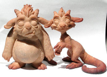 Token and Nubs sculpt by Kahiah