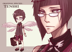 [CLOSED] Original species :  TENSHI. #1 by aritsuneart