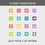 16 Flat Mood Icons by Gasara