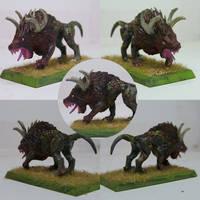 Warhammer Chaos Hound 1 by Kitsufox