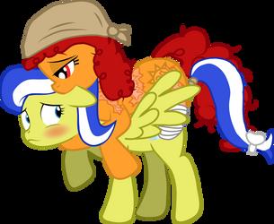 Smiles riding Lemon by HeliosFive