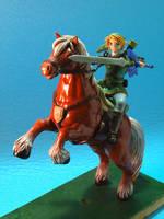 Link and Epona by Caro-Anita