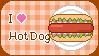 I love hotdog stamp by sosogirl123