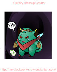 Demon-eyed Adventurous Bulbasaur-Clefairy by TGI-Zuzume