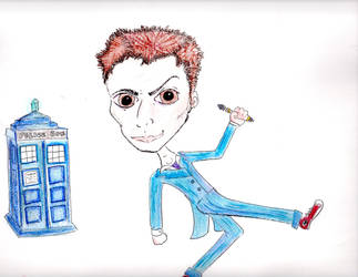 First Try at the Tenth Doctor by anarchycupcakes