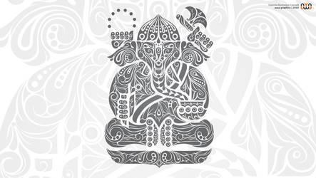 Ganesha Illustration by auua