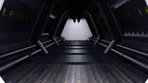 Sci Fi Corridor WIP by GeneralFOL