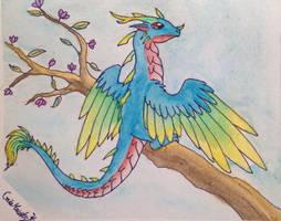Dragons - Bird dragon by Gaia-Hawks