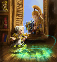 Chromie and Nozdormu by YeastSoldier
