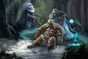 Nobundo and Durotan by YeastSoldier
