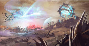 Sketch of The Dark Templar Saga Shadow Hunter by YeastSoldier