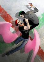 Random fight by maskman626