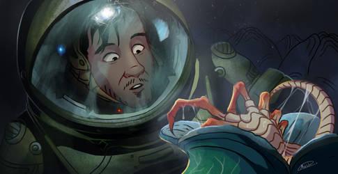 Movie Scenes parody - Alien by maskman626