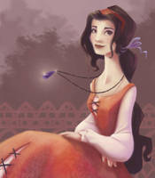 Lady with the Floaty Necklace by BetterthanBunnies