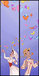 Butterfly Diptych by BetterthanBunnies