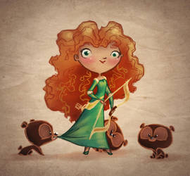Merida and the Three Bears by BetterthanBunnies
