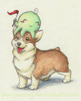 Corgi and Octopus by Penguinity