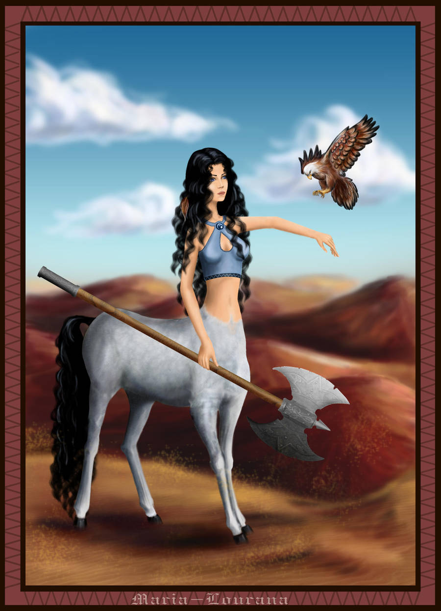 Centauress by Maria-Lourana