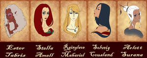 DA heroines meme by Maria-Lourana