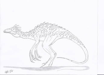 JP: Troodon Pectinodon No Color by Sinncrow