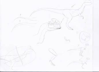 JP Dilophosaurus Veneifer Concepts by Sinncrow