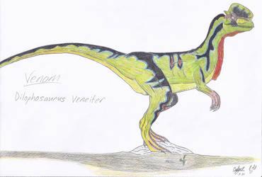 JP: Dilophosaurus Veneifer by Sinncrow