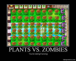 Plants Vs. Zombies by Sinncrow