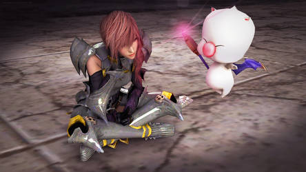 Rock and Scissors - Lightning and Mog by andersoncathy