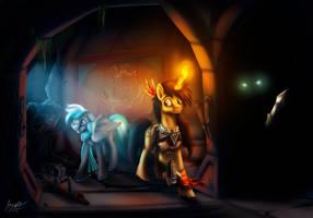 Exploring The Ruins by MisiekPL