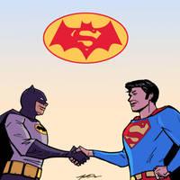 Batman v Superman: 70's Style by Jorell-Rivera