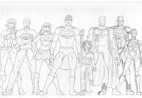 The Superman Family by Jorell-Rivera