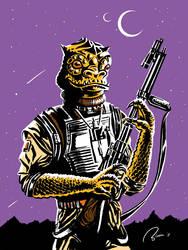Bossk the bounty hunter by Hefnatron