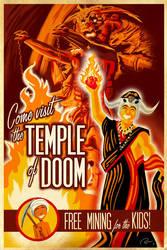Temple of Doom Travel Poster by Hefnatron