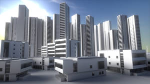 Cycles Render Civilian house hotel by DennisH2010