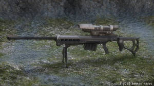 Sniper rifle KSR-29 Blender_Cycles_Render by DennisH2010