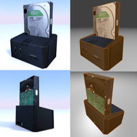 A very low-poly external hard by DennisH2010
