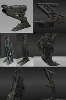 Rigged Robot Legs by DennisH2010