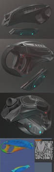 Futuristic Handgun by DennisH2010